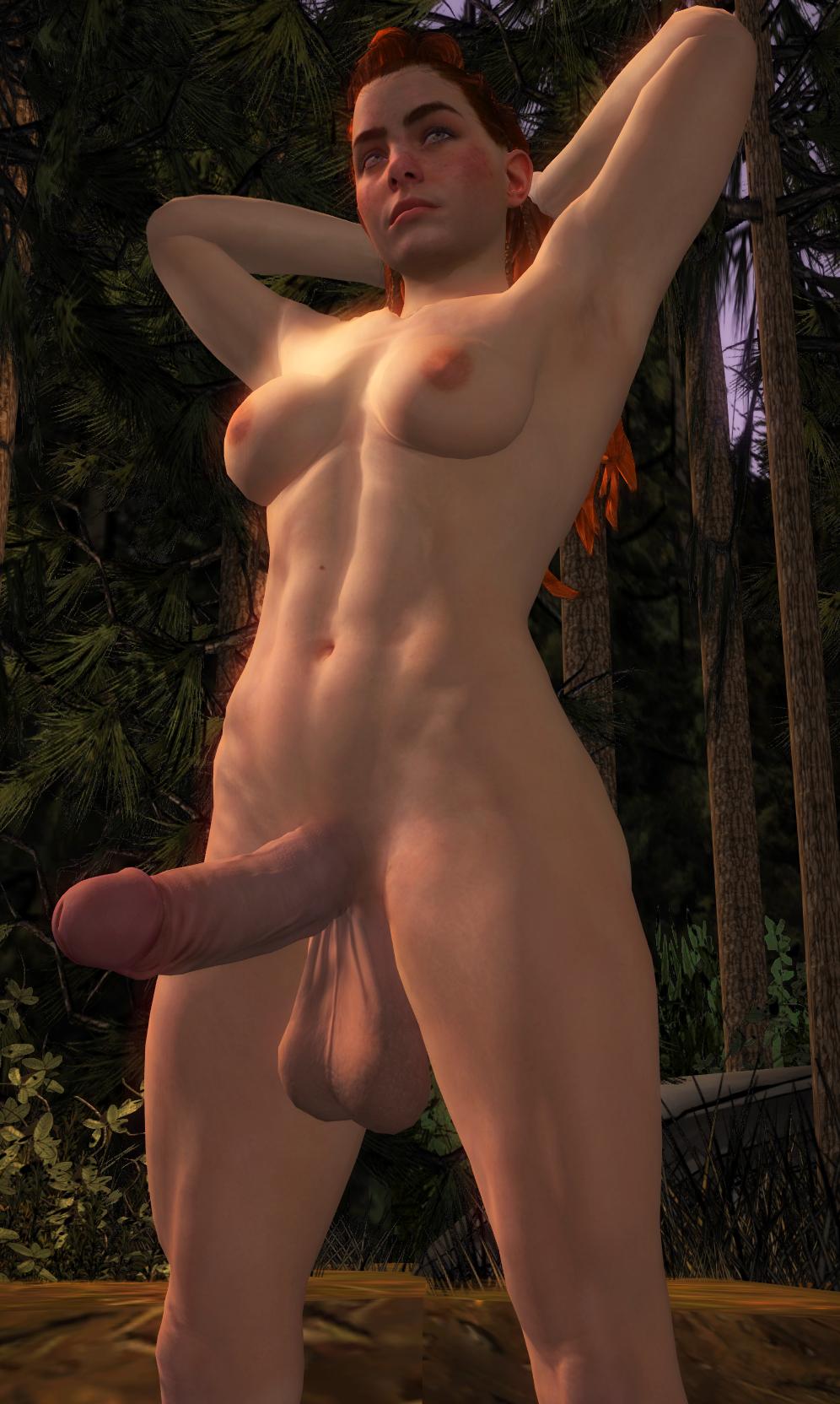 zero nude dawn aloy horizon Anime girl pee naked comic
