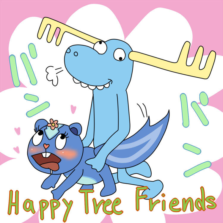 petunia happy tree friends giggles and Wonder girl teen titans go