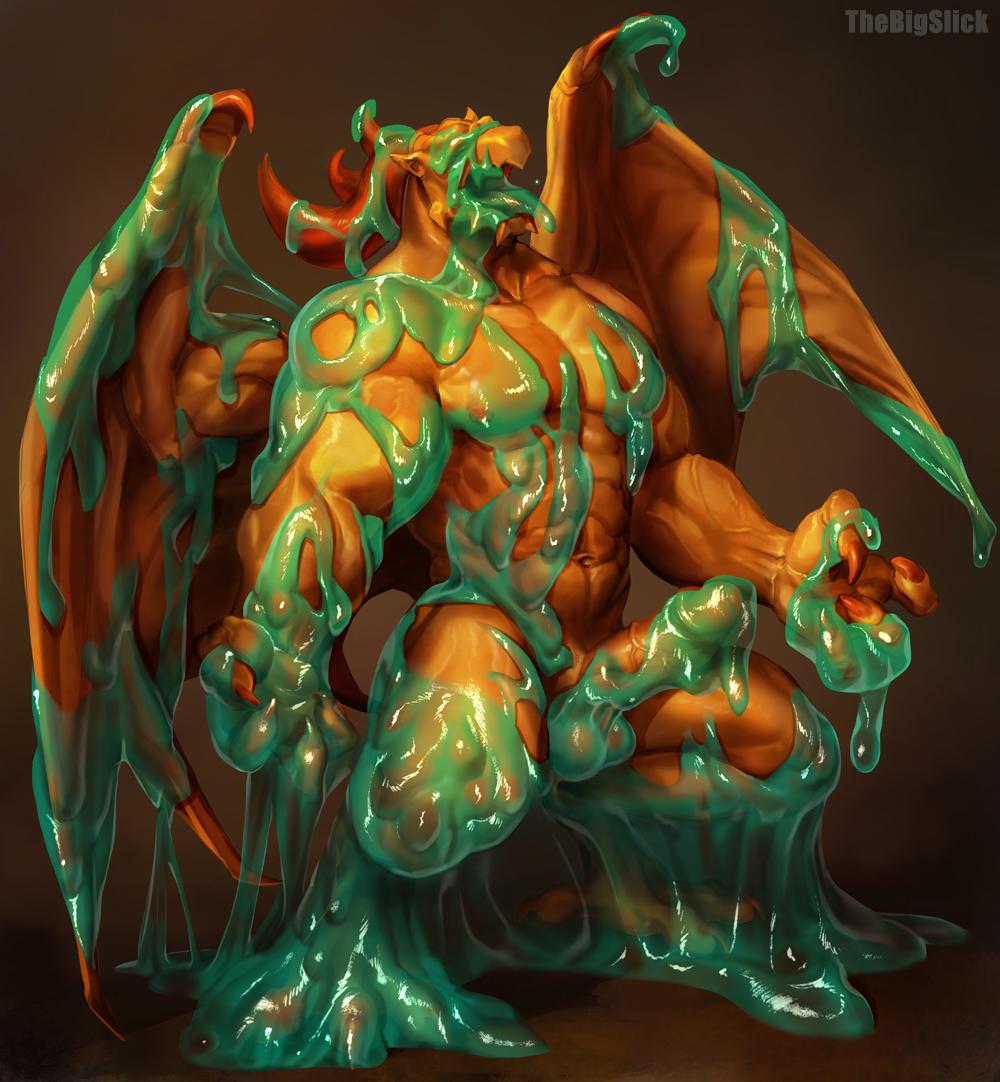 breath dragon quarter fire of Forced to cum in diaper