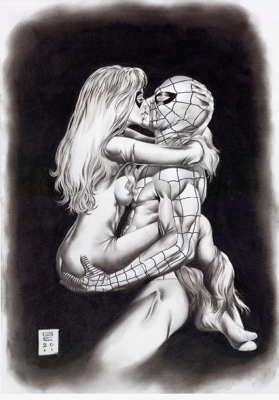 man shadows spider black web cat symbiote of Oshioki ~gakuen reijou kousei keikaku~