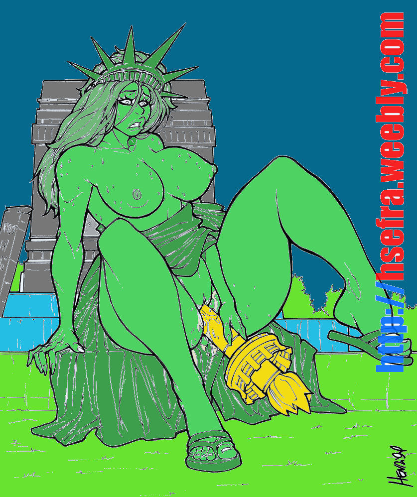 of kissing justice statue lady liberty Magic castle repure aria english