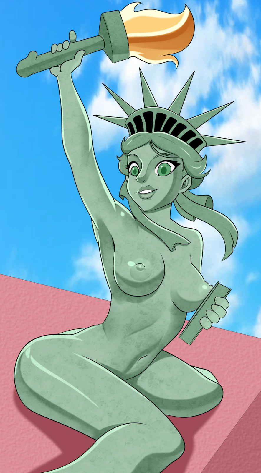 kissing statue lady liberty of justice Index of fate stay night
